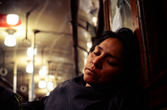 pause (aya mac) Tags: street portrait woman argentina lady subway buenosaires sleep candid streetphotography