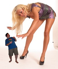 iggy 1 - ev32 (iggy62pop2) Tags: eva legs upskirt heels grab miniskirt giantess shrinking kneehigh shrinkingman minigiantess