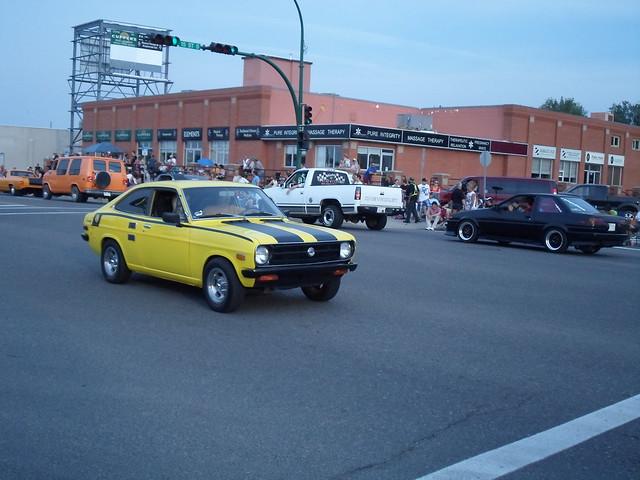 cruise classic car yellow alberta 70s 1200 1973 lethbridge datsun 2012 streetwheelers streetwheelerscruise