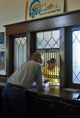 Santa Fe the Chief Way (jolee-mer) Tags: people usa newmexico museum fieldtrip depot lascruces ticketcounter santaferailroad lascrucesrailroadmuseum