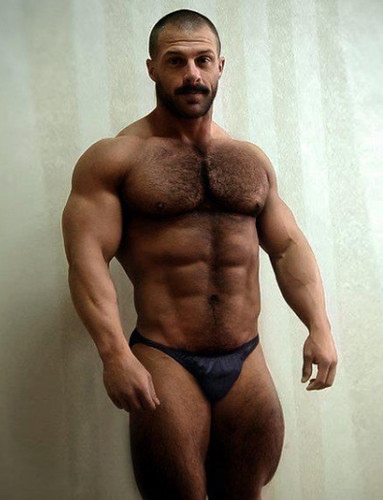 Men hairy muscle