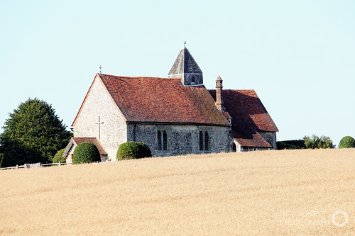 Standing alone amid the fields of Old Idsworth is the little Chapel of St Hubert, Patron saint of hunters.