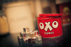25th July (207/365) (chrismartinez.co.uk) Tags: red food cooking kitchen vintage tin bokeh stock retro oxo project365 stockcube