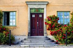 * (Johan Gustavsson) Tags: door roses house wall stair sweden stockholm sverige hus steg djurgrden drr rosor trappa johangustavsson turistbild vggsteps