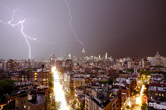 | Double Strike | (SOBPhotography) Tags: storm color photography energy cityscape photojournalism photograph 7thavenue lightningstrike anawesomeshot multiplelightningstrikes picturelightning