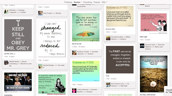 Pinterest new category for Quotes