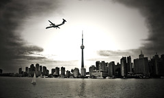 TDot (monsters.monsters) Tags: city bw toronto delete10 ferry skyline sailboat delete9 airplane delete5 delete2 airport nikon cntower delete6 delete7 delete8 delete3 delete delete4 save lakeontario