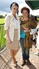 Virginia Macari and her mother at the Quintessentially Lifestyle BBQ at the polo grounds at Phoenix Park Dublin, Ireland