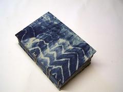 blue and natural (sandySTC) Tags: blue thread paper book handmade drawing linen indigo bookbinding binding gauze handbound jacksonfabricarts
