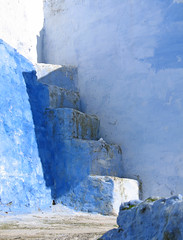The Steps to Nowhere (Ellsasha) Tags: morocco northafrica blues chefchaouen building steps shadows sunlight