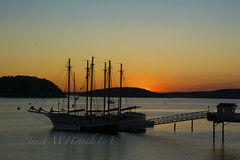 Sunrise with Margaret Todd (jmhutnik) Tags: sunrise schooner margarettodd barharbor maine acadia dawn harbor pier morning sky