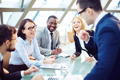 259215920 (PCCommercial) Tags: business businessman businesspeople businesswoman cheerful coworker colleague communication conference discussion group hall laughing man meeting partner people planning positive smiling successful teamwork woman working young