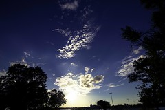 Over the Isthmus (Myk Jordan) Tags: campus uw uwmadison university badgers goldenhour sunset sun sundown lake monona mendota isthmus sky clouds cloud water