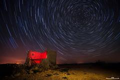 Circumpolar (www.jorgelazaro.es) Tags: cabañadevolta ruina nocturna estrellas luz noche circumpolar lightpainting polar luces choza campo linterna pedraseca paisaje azul