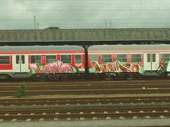 WEIRDO (mkorsakov) Tags: münster hbf bahnhof graffiti train zug colored bunt abgestellt abstellgleis buffed weirdo
