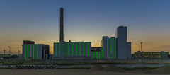 "[Explore 2016-08-17] ""Lausward"" Power Plant after sunset (stefanfricke) Tags: power plant sunset dsseldorf panorama green sony ilce6000 a6000 industry architecture fav50 fav100"