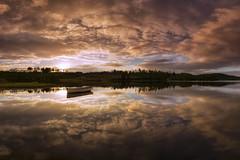 Rusgaidh (J McSporran) Tags: scotland trossachs lochrusky lochanrusgaidh sunrise clouds dawn reflections portofmenteith canon6d ef1635mmf4lisusm landscape
