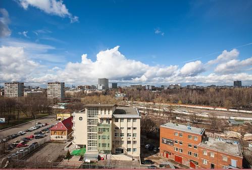 Москва. Вид на район «Преображенское»