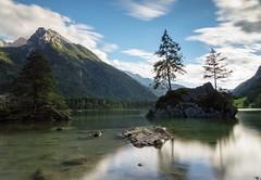 Hintersee bei Ramsau in Berchtesgaden (Harri_Photography) Tags: watzmann rock mountain island germany bayern colorful exklusiveshot star stars longexposure longexposureoftheday longexpoelite bavaria lightning amberg  summer