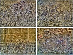 Khmer battles (Foto&Grafica 2D/3D) Tags: angkorwat cambodia siemreap khmer basrelief bassorilievo hdr