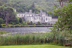 Kylemore over lake (Flamelillyfox) Tags: kylemore abbey romantic building old lake ireland beauty weather rain
