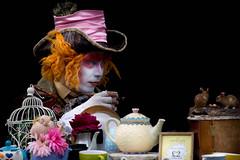 The Mad Hatter in Camden (cuppyuppycake) Tags: the mad hatter alice wonderland costume fancy dress street photogrpahy tea pot portrait teatime