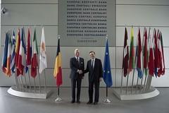 Visit by His Majesty the King of the Belgians (European Central Bank) Tags: europeancentralbank ecb visit kingofthebelgians belgium mariodraghi philippeofbelgium frankfurtammain