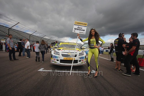 Dave Newsham on the grid at Rockingham, August 2016