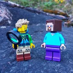 """Hi !?"" (bricktalife) Tags: lego minecraft"
