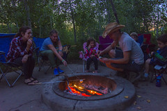 Smore Fun at Payson Lakes Campground (aaronrhawkins) Tags: camping campfire marshmallow smore family camp paysonlakes utah forest outdoor fire fireside embers flames glow roast