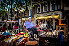The old man and his stuff (matthiasstiefel) Tags: delft netherlands niederlande