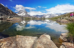 clouds (welenna) Tags: alpen alps switzerland summer snow schnee schwitzerland see sky swiss stone clouds cloud classic berge blue blumen mountains mountain matterhorn view landscape lake light leute licht relief reflection reflexion riffelsee wasserspiegel water wasser wallis wolken