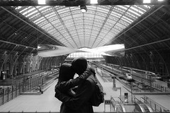 Farewell St Pancras Station (Desire Soriano) Tags: farewell lovers train station goodbyes inlove architecture wide angle