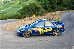Subaru WRX Sti Group A / WRC - Pryzek/Pryzek - WP17 Dhrontal - Rallye Deutschland 2016-379-007 (eschborn.photography) Tags: eschborn eschbornphotography adac wochenende super fun car rally dirt gravel asphalt tarmac round season world championship sideways gras track corner kurve driver wrc nikon d7100 28 2470mm 555 rims