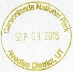 Canyonlands NP - Needles District UT (colinLmiller) Tags: 2016 passport stamp rubberstamp nps blm nationalparkservice bureauoflandmanagement bonus green canyonlandsnationalpark moab utah needles district