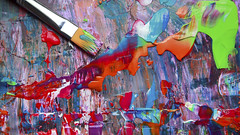 Closeup of brush and palette (Vuong Cong Minh) Tags: abstract acryl acrylic art artist artistic bright brush class closeup cover craft creative drawing exhibition expression expressionism illustration mixing modern multicolored paint palette pink school studio talent white yellow background blue close color colorful draw education factory gallery hobby illustrate imagination impression impressionism mix multi oil painter picture texture work