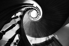 And around we go..... (deeval99) Tags: spiralstaircase vintage design architecture canon6d canon newportrhodeisland thebreakers mansions rhodeisland raw blackandwhite bnwphotography bnwphoto bnw