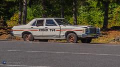 "KOMO TV's ""Car 5"" Remains of Car 5, an ex-KOMO TV car near Mt. St. Helens, photographed September 12, 2016 (Loowit Imaging - Steve Rosenow, Photographer) Tags: mountsthelens mtsthelens sthelens volcano mountain landscape scenic scenery pacificnorthwest volcaniclandscape nikon nikond5500 komo komotv komocar5 davecrockett"