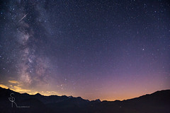 I love the night - milky way and meteor  (SteffPicture) Tags: myswitzerland perseiden meteor milkyway switzerland bhlberg lenk lenksimmental milchstrasse steffpicture nightshots night long exposure weide himmel sternenhimmel stern cloud mountain berge nacht sky wolke outdoor feld landschaft berg sonnenuntergang hgel heiter vorgebirge