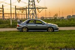 Subaru Impreza Turbo GC8 WRX (SpookPictures) Tags: spook pictures spookpictures subaru impreza gtt gc8 gt turbo sedan wrx stars25 stars 25 25stars 86f steel blue cool grey mica drak sti look classic rb5 rb 5 oem standard scoobysport wing spoiler splitter lip fog light covers v6 v5 version6 version5 version 6 jdm japanese tuned by apexi power intake zdsx96 zd sx 96 ace motorsports stock wheels 5spokes spokes 16 inch 16inch et53 7j gold yellow low