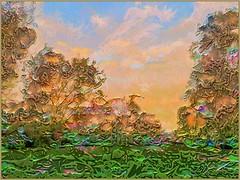 Trees En Relief (flynryon) Tags: flynryon texture canvas flickr fingerpaintedit iamda paintbookca mobile art scumble mike ryon ipainter landscapes portraits figures mashablecom iphone digital artist glaze artstudio adobeshape