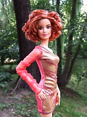 Barbie Fashionistas Redhead restyled (Dollytopia) Tags: barbie doll fashionistas mattel redhead makeover curly hair curls