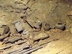 Clearwell Caves II, Coleford, Gloucestershire, 23 September 2016 (AndrewDixon2812) Tags: clearwell caves mine mines coleford gloucestershire forest dean miners boots kettle equipment