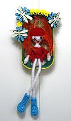 flower power (Beate Bader) Tags: felt felting shadowbox can beateb handmade flower power girl jente blomster