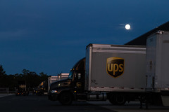 UPS (aka Buddy) Tags: 2016 summer full moon ups truck trucks tintonfalls nj og