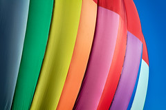 A Colorful Balloon (matthewkaz) Tags: color colors rainbow hotairballoon balloon balloonfest howell michiganchallenge michigan 2016