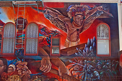 Indian Warrior - 24th Street - San Francisco Mission District (BlueVoter - thanks for 2.7M views) Tags: sf sanfrancisco streetart mural sfo missiondistrict flickrmeetup sfflickrmeetup