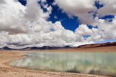 Lago temporero / Seasonal lake (Gabriel Ortiz Maya) Tags: chile clouds desert saltlake nubes desierto salar sanpedrodeatacama inviernoaltiplanico