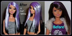 Meet Violet....a re-root. (^_^) (A Doll Affinity) Tags: hair doll lashes purple ooak barbie skipper rooted affinity reroot a