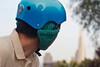 18386 Bike helmet earmuffs version 2, right side from rear (geekstinkbreath) Tags: sanfrancisco me helmet yarn earmuffs russianhill earmuff bikehelmet bicyclehelmet earwarmers earwarmer minolta50mm nutcasehelmet nutcasehelmets